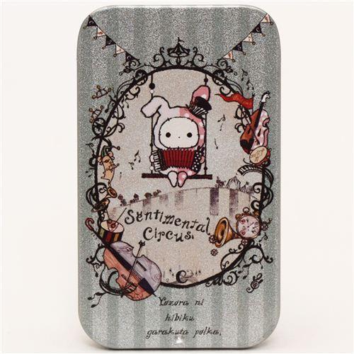 Sentimental Circus turquoise tin case pill box rabbit San-X
