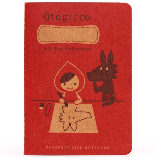 red Decole Red Riding Hood mini notebook exercise book