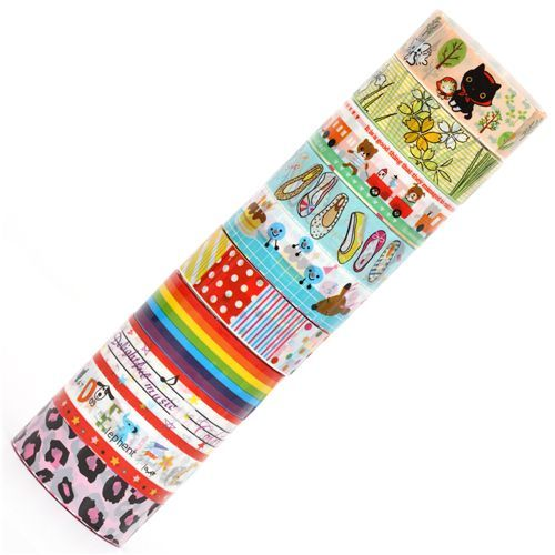 kawaii Deco Tape adhesive tape 10pcs Set 47
