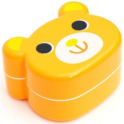 cute yellow Bear Bento Box Japanese lunch box