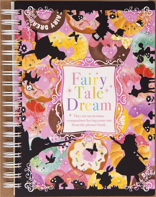 ring binder notebook Alice in Wonderland donut