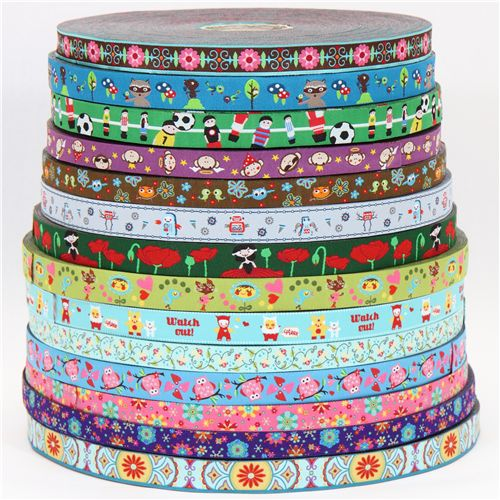 Lots of new woven ribbons