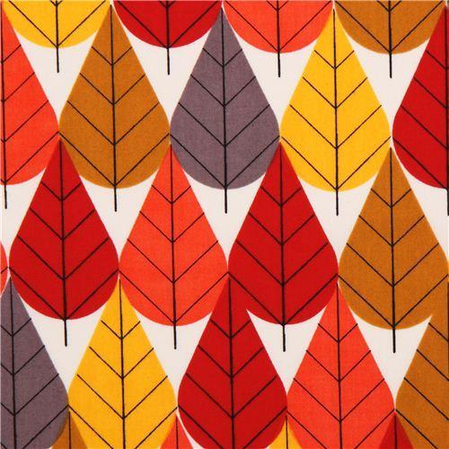 autumn foliage organic Canvas fabric birch Octoberama Fall