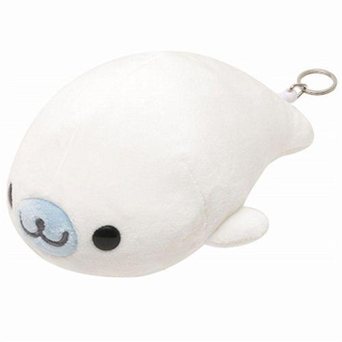 white vibrating Mamegoma baby seal San-X plush toy