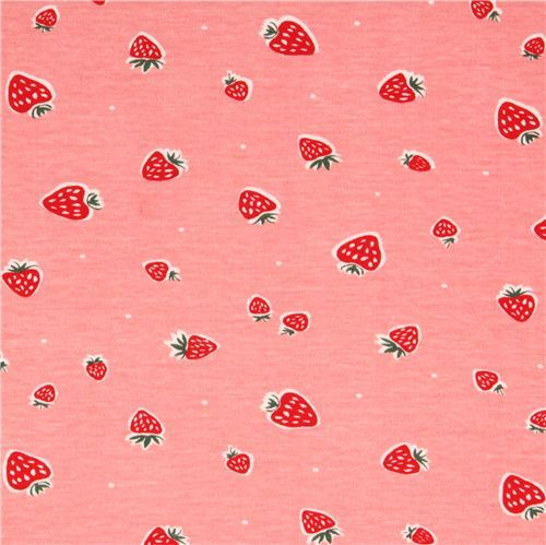 pink strawberry fruit birch organic fabric Everyday Party