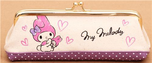 My Melody rabbit linen pencil case by Sanrio