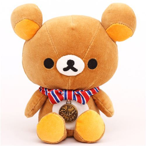 Rilakkuma Factory brown bear plush toy paperweight
