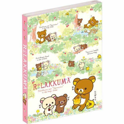 cute Rilakkuma friends red berry mini memo pad book by San-X
