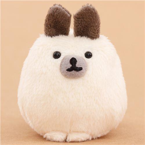 cream-grey Mofutans mochi rabbit plush toy by San-X from Japan