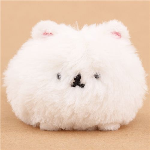white elderly Mofutans mochi rabbit plush toy by San-X from Japan