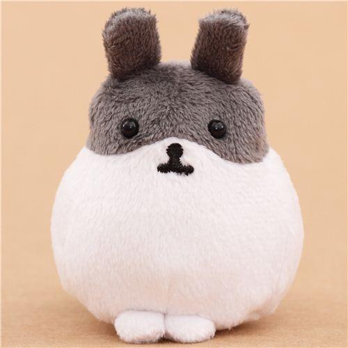 white-grey Mofutans mochi rabbit plush toy by San-X from Japan