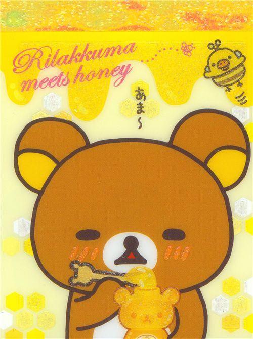 Rilakkuma honey bear mini Memo Pad by San-X