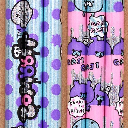 Zombbit zombie rabbits polka dots glitter pencil Japan