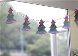 Washi Tape Christmas Tree Bunting