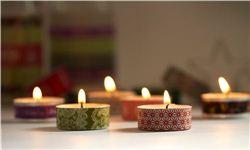 Christmas Washi Tape Tea Light Candles