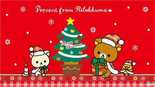 Merry Christmas from modes4u with this adorable Rilakkuma wallpaper