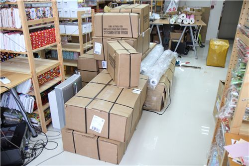 boxes, boxes and more boxes. They were all super heavy