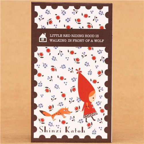 Little Red Riding Hood fairy tale mini envelope Shinzi Katoh