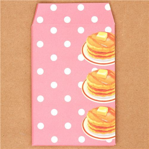 kawaii pancakes mini envelope Japan Kamio Polka Dot