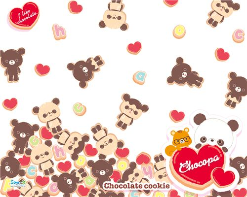 Super kawaii chocopa cookies wallpaper