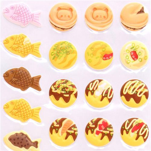 3D sponge sticker set Kamio Japanese food street food