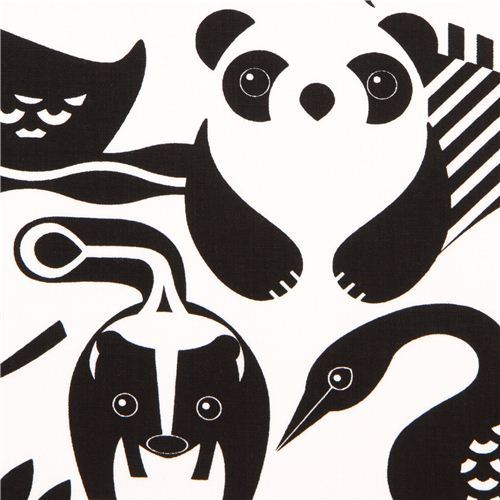 white safari animal fabric by Timeless Treasures USA