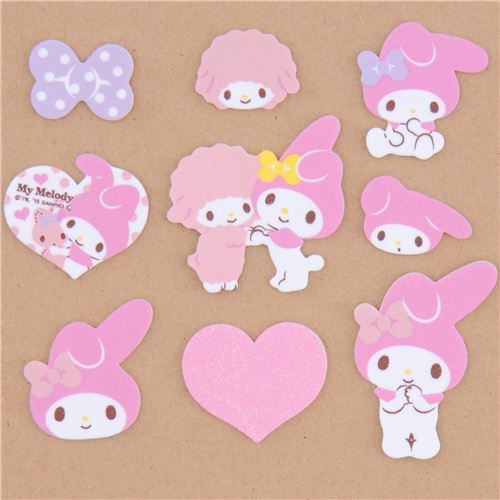 cute My Melody soft sponge sticker from Japan