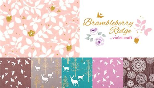 Check out Violet Craft's beautiful fabric collection Brambleberry Ridge on modes4u.com