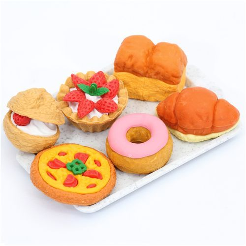 Iwako erasers Bakery 6 pieces set