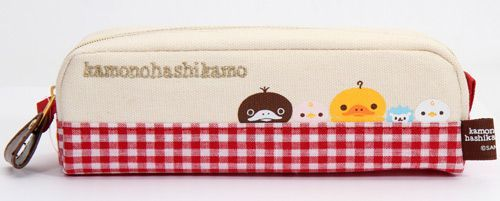 checkered Duckling pencil case by San-X from Japan