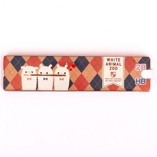 alpaca argyle mechanical pencil refill set