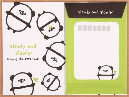 kawaii panda bear animal Letter Set by Q-Lia