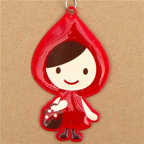 reflective Little Red Riding Hood umbrella charm