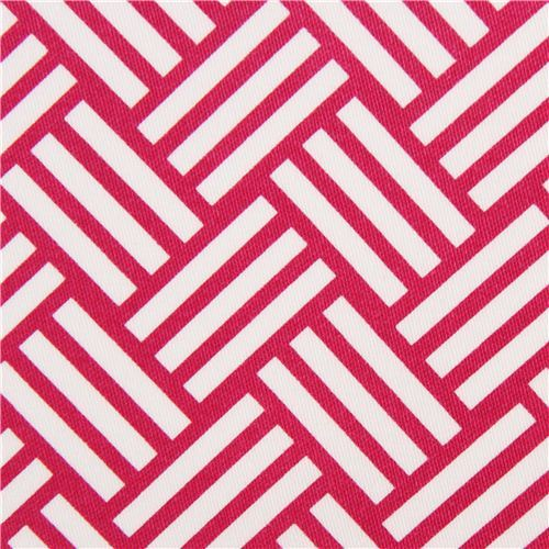 pink tatami stripes cotton sateen fabric Michael Miller