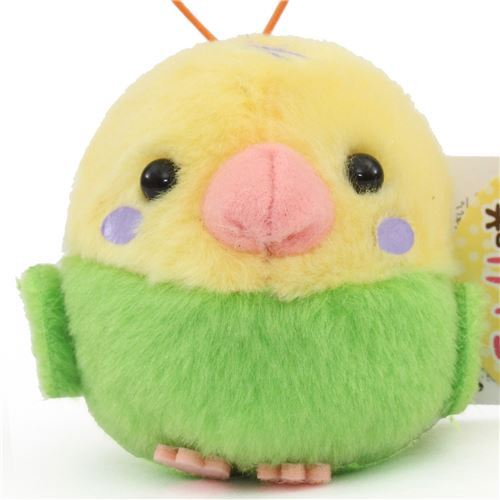 cute small green yellow bird plush toy from Japan