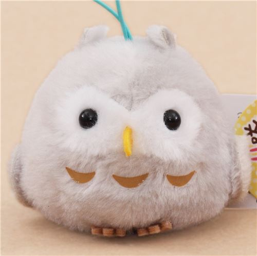 cute small grey owl plush toy from Japan