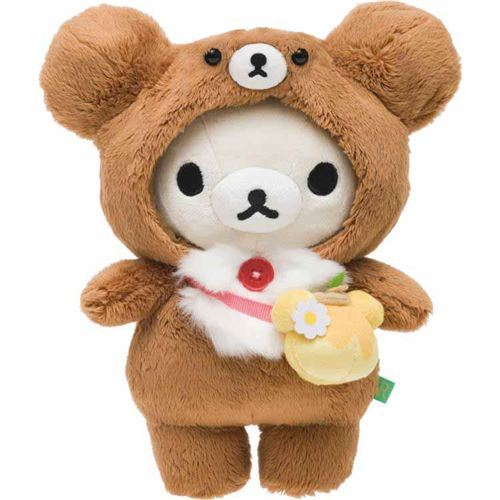 cute Korilakkuma teddy bear in brown bear costume by San-X