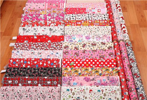 We now have Hello Kitty fabrics, My Melody fabrics and Little Twin Stars fabrics
