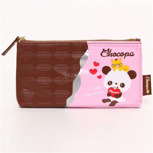 cute Chocopa bear chocolate bar pencil case San-X Japan