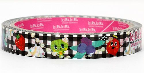 checkered cute monster Sticky Deco Tape Japan KiRa KiRa