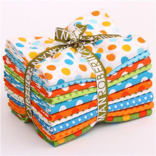 Fat Quarter fabric bundle dots Summer Luvin' Robert Kaufman