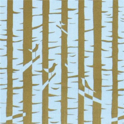 green monaluna birch tree flower organic fabric birches USA