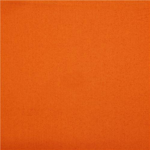 solid orange birch organic fabric from the USA