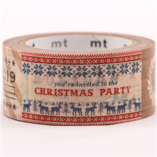 Vintage Christmas Party Christmas mt Washi deco tape gold metallic