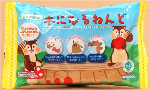 lightweight brown air-drying wood paper clay from Japan