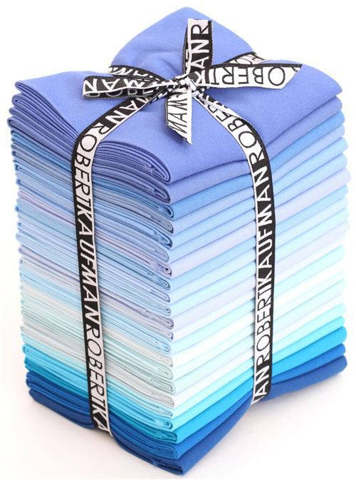 Fat Quarter fabric bundle My Blue Heaven Robert Kaufman