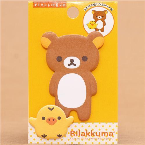 Rilakkuma brown bear Post-it bookmark sticker San-X