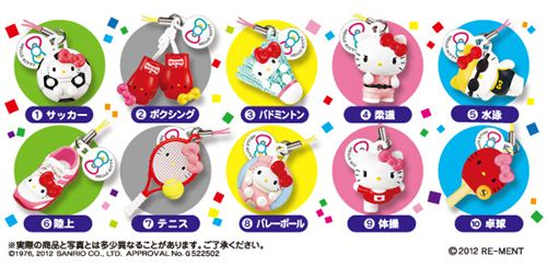 These are the 10 Olympic sports of the Hello Kitty Re-Ment