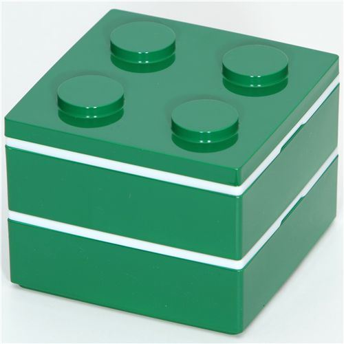 funny green brick Bento Box from Japan