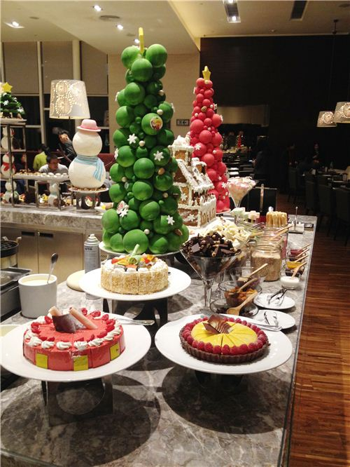 Everyone loved the dessert section of the buffet area